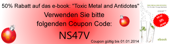 Get 50% on e-book: 'Toxic Metal and Antidotes'